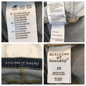 Articles Of Society Jeans - Articles of Society Heather High Rise Jeans 29